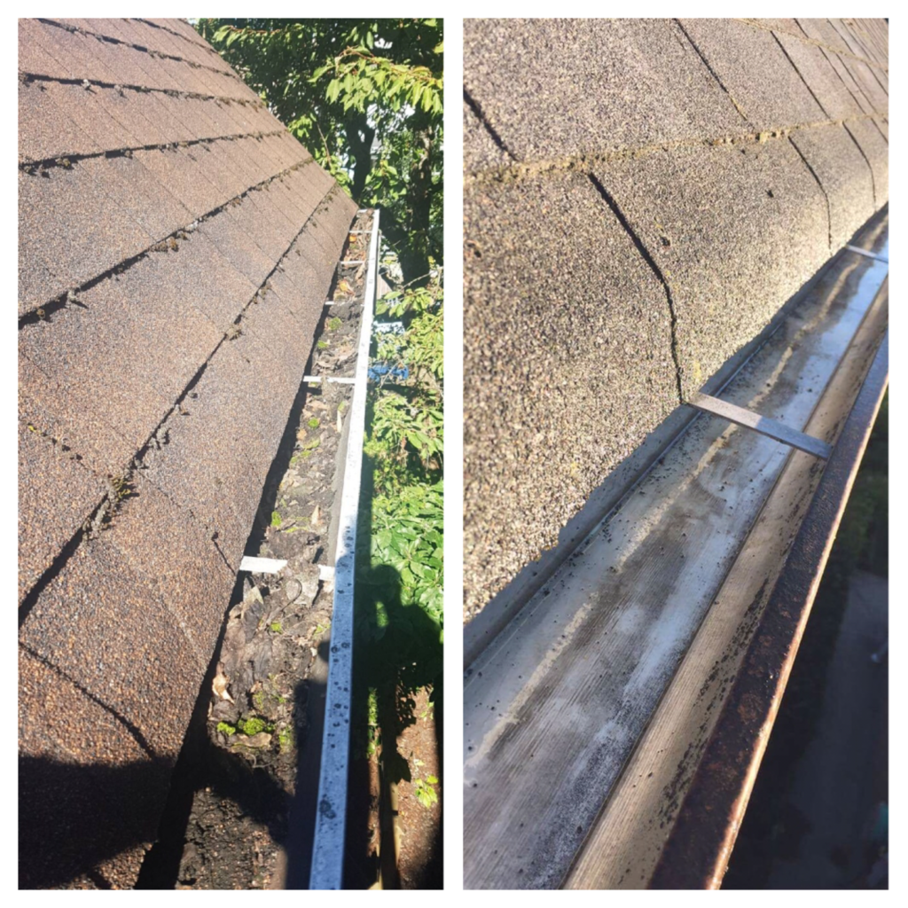 Cleaning exterior gutters Vancouver