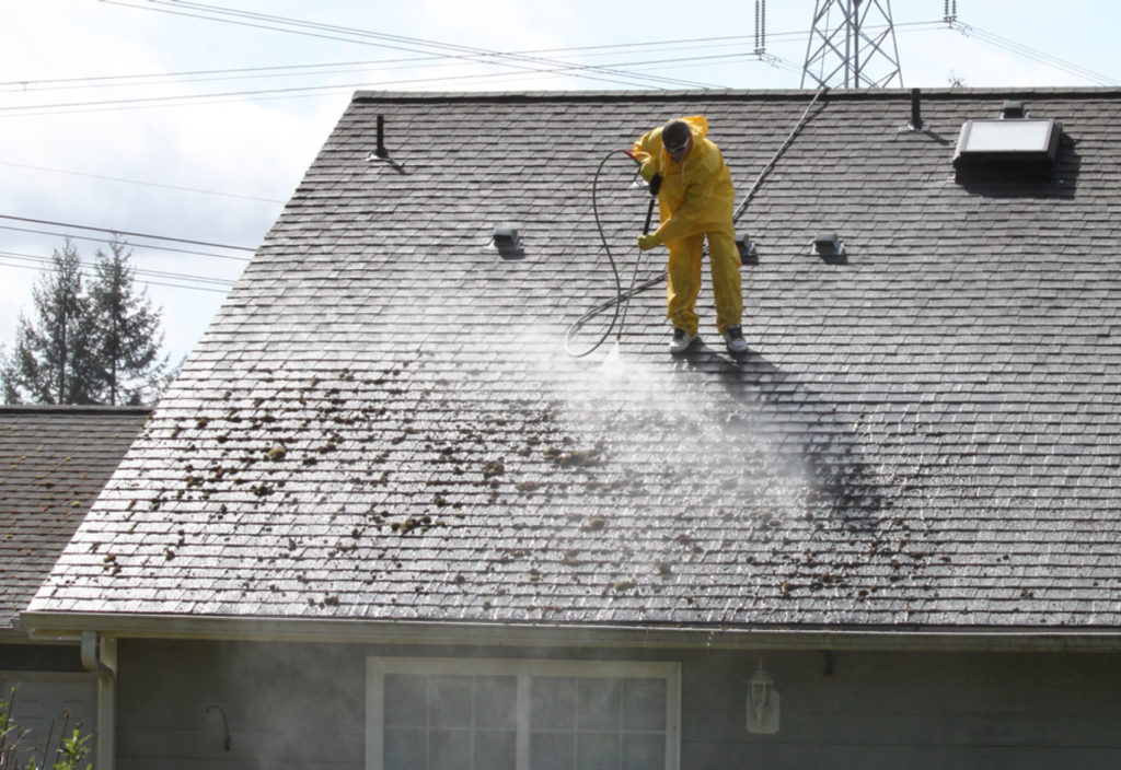 Pressure Wash Cedar or Shingle Roof