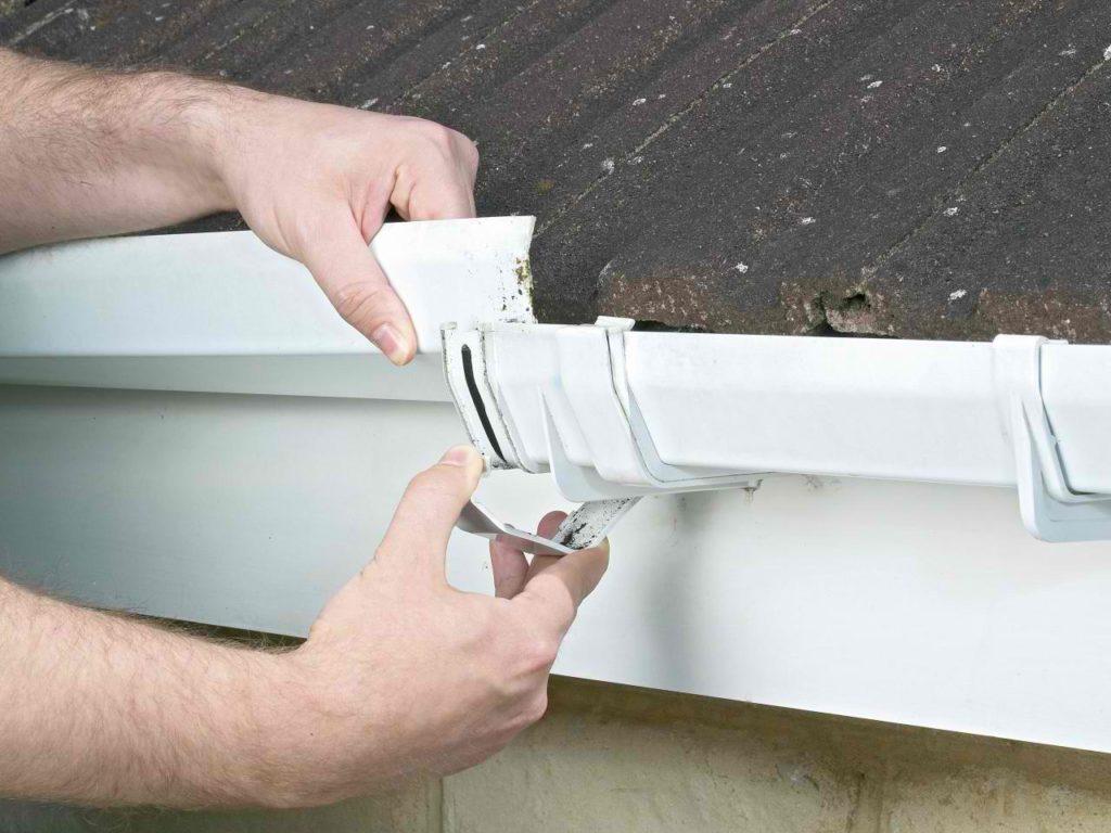 repairing leaky gutters