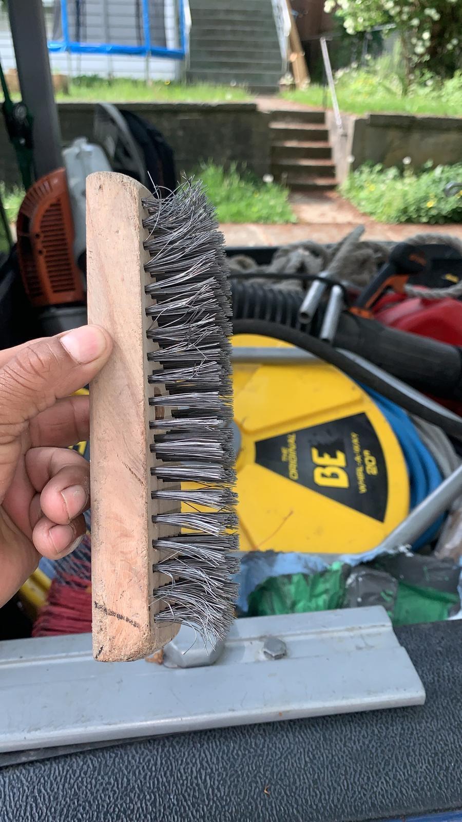 Moss Removal bristle brush